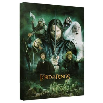 Lord Of The Rings - Hero Group Canvas Wall Art With Back Board