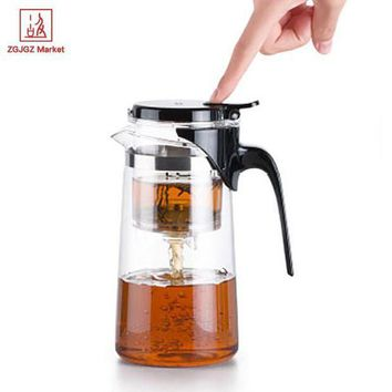 CREYLD1 Samadoyo Handmade Drift Tea Pot Heat Resistant Borosilicate Glass Teapot Kung Fu Tea Set with Infuser SAG10 750ml Mug Tea Cup
