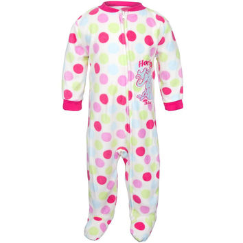 Dr. Seuss - Horton Girls Polka-Dot Toddler Foot Pajamas