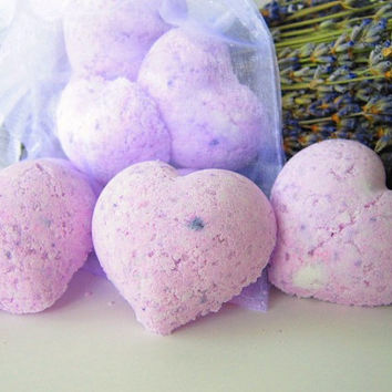 Lavender Bath Bomb  Set of 5 by VintageVial on Etsy