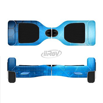 The Vivid Blue Fantasy Surface Full-Body Skin Set for the Smart Drifting SuperCharged iiRov HoverBoard