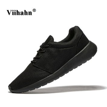 Viihahn Men's Running Shoes Breathable Easy Run Sneakers Spring EVA Outsole Footwear Soft Sports Shoes Outdoor Walking Shoes