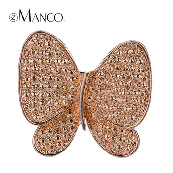 Rhinestone zinc alloy butterfly brooches party  eManco 2014 new High Quality Fashion bijoux Creative Christmas gift BR02754