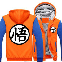 Orange and blue Goku hoodie