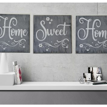 Home Sweet Home Wood Wallhanging Living Area