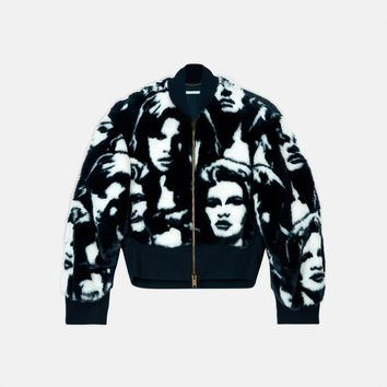 Fur Free Fur Faces Print Bomber Jacket - Stella Mccartney