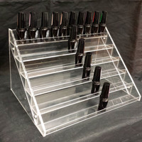 Acrylic Nail Polish Table Display Organize Rack can hold 60 bottles of China Glaze, Opi, Essie Bottles etc.