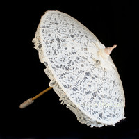 Ivory Lace Parasol - Special Order - LIMITED Quantity