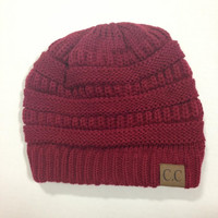 Close Cuddle Beanie - Burgundy - Small