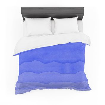 "Kess Original ""Ombre Berry"" Blue Digital Featherweight Duvet Cover"