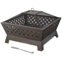 Hampton Bay Tipton 34 in. Steel Deep Bowl Fire Pit in Oil Rubbed Bronze-OFW832S - The Home Depot