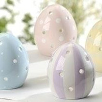 "12 Candle Holders - Easter  "" Eggs """