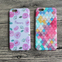 Vintage Flower Printed Hard Case for iPhone