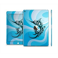 The Vector Blue Abstract Fish Skin Set for the Apple iPad Pro