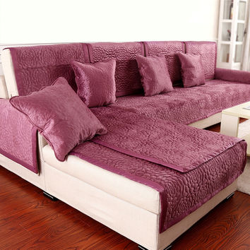 10colors Sofa Covers Fleeced Fabric Knit Eco-Friendly Anti-Mite Manta Sofa Slipcover Couch Cover for living/Drawing Room