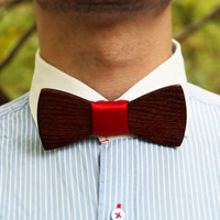 "Wooden bow tie ""Mafia"". Handicraft unique men accessory. Manly gift. #WoodenBowtie #Jules_Verne"