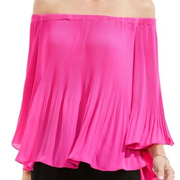 Vince Camuto Pleat Off the Shoulder Blouse | Nordstrom