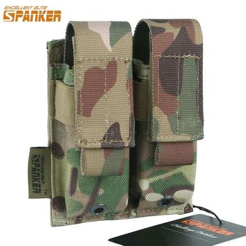 EXCELLENT ELITE SPANKER Outdoor Military Double Pistol Mag Bag Universal Hunting  Ammo Clip Holster Pouch Tactical Accessories