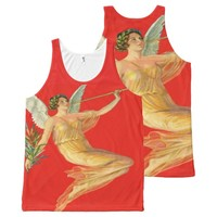 angel on red All-Over-Print tank top