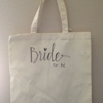 Bride Wedding Tote Canvas Bag