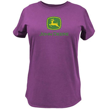 John Deere 23000024FS03 Ladies T-Shirt - Fuchsia, Small
