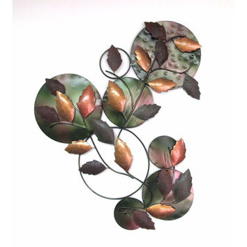 D Art Collection Iron Leaves WallDecor New Colour