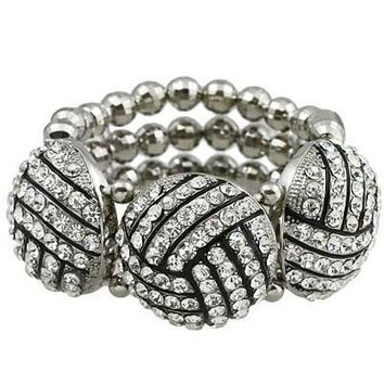 *Volleyball Bling Statement Bracelet