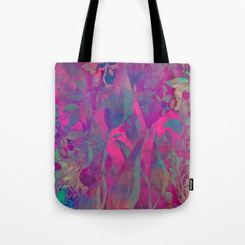 flowers pattern purple #flowers #flora #pattern Tote Bag by jbjart