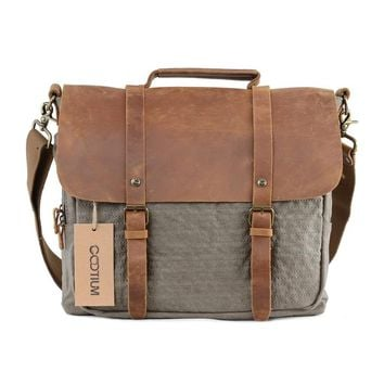 Leather Canvas Briefcase #60407