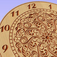 Clock face vector file (eps) for V-bit cnc carving