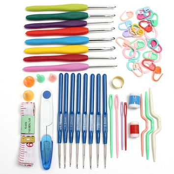 16 Sizes Multicolor Crochet Hooks Needles Stitches Knitting Weave Craft Yarn Tool Case Set [8270425025]