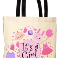 Baby Shower It's A Girl Gift Tote Bag