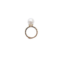 Harper Gold Pearl Ring