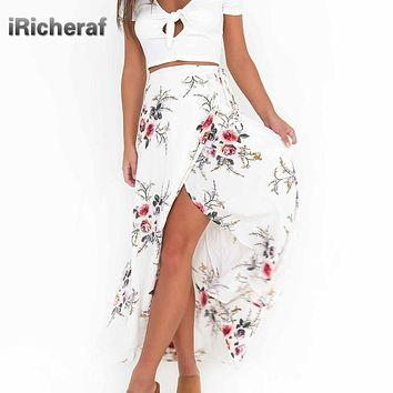 Foral Print Long Skirts Women