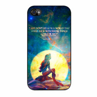Mermaid Ariel The Little Quotes In The Moon Light iPhone 4 Case