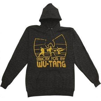 Wu Tang Clan Men's  Strictly For My Wu-Tang Hooded Sweatshirt Heather Charcoal