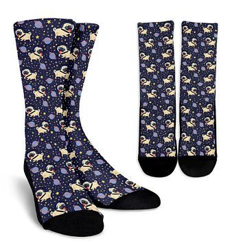 Space Pug Socks