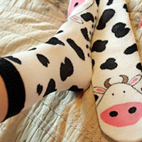 Tubular Cow Socks - Sock Dreams - Unique Colorful Socks