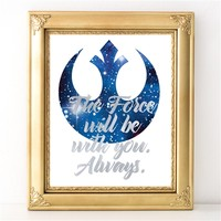 The Force Will Be With You - Silver Foil Print - Spiffing Jewelry