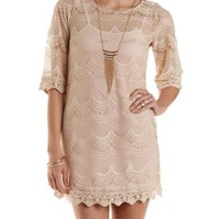 Scalloped Lace Shift Dress by Charlotte Russe