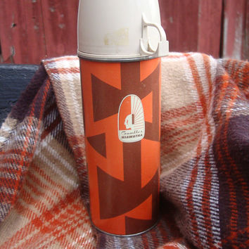 Vintage Thermos Indian Gambles Hiawatha Made In the USA Norwich Conn