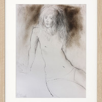 Original drawing Sketch Mixed media Wall art Nude Woman Graphic art Figurative Modern artwork Fine art Charcoal Home decor Female Figure