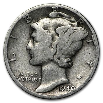 1940-D Mercury Dime Good/VF