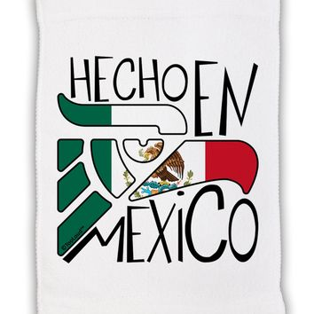 "Hecho en Mexico Design - Mexican Flag Micro Terry Sport Towel 11""x8 by TooLoud"