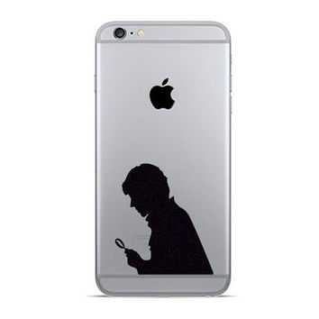 Sherlock Two Velvet Stickers iPhone 6 - Sherlock Holmes Fabric iPhone 6 Plus Stickers - Galaxy s5, s6 Decals - Nexus Movie Decor
