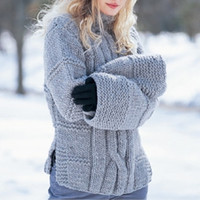 Bulky Cable Pullover Sweater