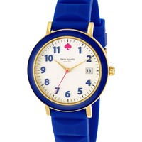 kate spade new york Women's Metro Blue Silicone Strap Watch 36mm 1YRU0600
