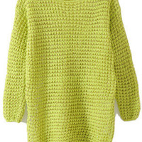 Spun Gold Lantern Sleeves Yellow-Green Jumper