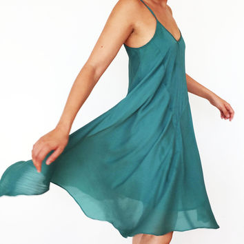 Aquamarine Flowy Dress (Urban Outfitters)
