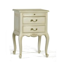 Provencale French Bedside Table with Slide | White Chateau French Bedroom Furniture | French Furniture